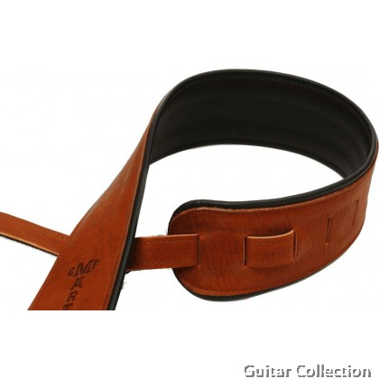Martin 18A0028 Premium Rolled Leather Guitar Strap- Brown