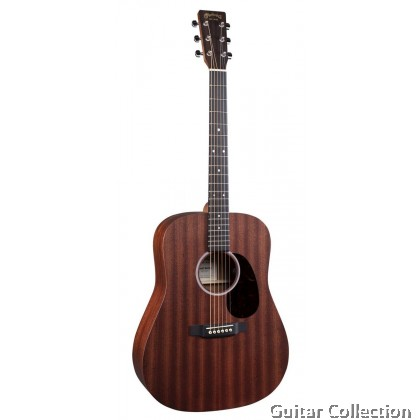 Martin D-10E-01 Dreadnought Acoustic-Electric Guitar Sapele Top, Back & Side with Fishman MX-T Preamp & Gig Bag