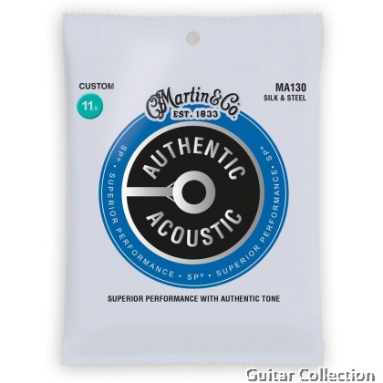 Martin MA130 SP Silk and Steel Authentic Acoustic Guitar Strings 11.5-47