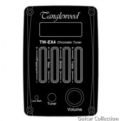 Tanglewood DBT TCE BW | Travel Super Folk Cutaway Body | Spruce Top |  Black Walnut B&S | Nat Satin | EX4 EQ System | Origin Padded Gig Bag | (FREE STRINGS, PICKS, PICKHOLDER, & STRAP)
