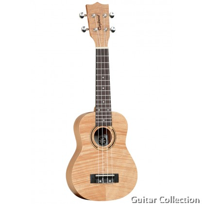 Tanglewood TWT 5 Tiare Soprano Ukulele | All Flame Mahogany | Arched back | Luxury Open Pore  Finish with Genuine Timber Inlay | Aquila Strings | Origin Padded Gig Bag