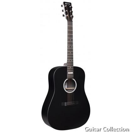 Martin DX Johnny Cash Custom Signature Edition, Dreadnought Black HPL, Acoustic-Electric Guitar, Fishman MX & Gig Bag